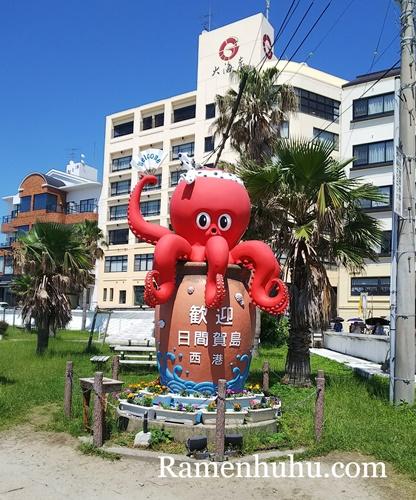 日間賀島 タコのモニュメント