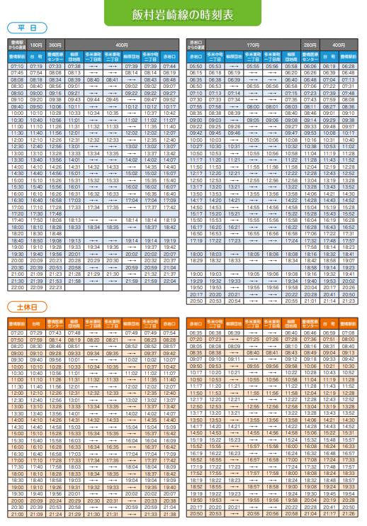 豊鉄バス 飯村岩埼線 時刻表