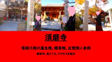 【須磨寺】塔頭三院の蓮生院、櫻寿院、正覚院に参拝 御朱印、見どころ、アクセスを紹介