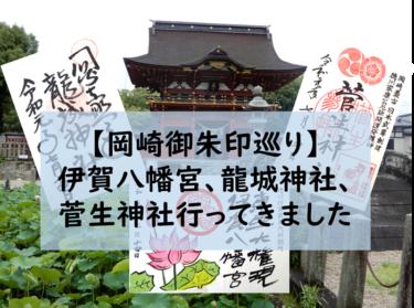 【岡崎御朱印巡り】伊賀八幡宮、龍城神社、菅生神社行ってきました