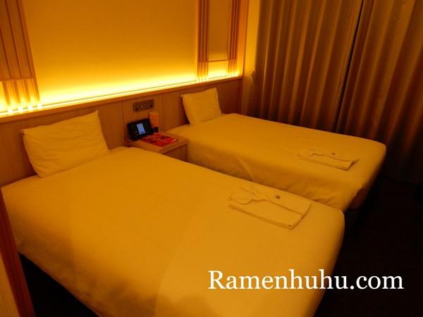変なホテル京都八条口 ベッド