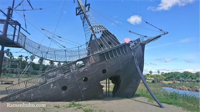 赤穗海浜公園の難破船