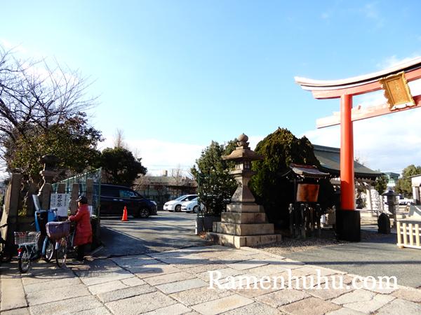姫嶋神社(やり直し神社)鳥居