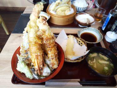 【姫路駅チカ】天ぷら海鮮 神福で大海老天丼が食べられる!(ランチタイム限定)