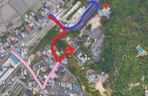 日岡神社 駐車場2
