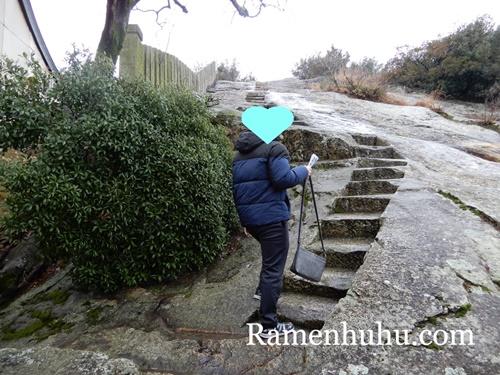 生石神社 石の階段