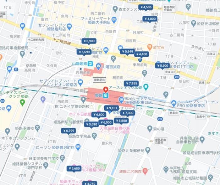 姫路駅周辺のホテル ホテルクラウンヒルズ姫路