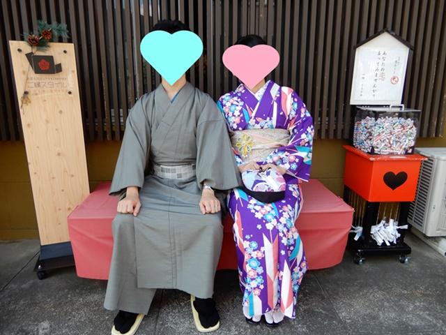 着物を着た夫婦
