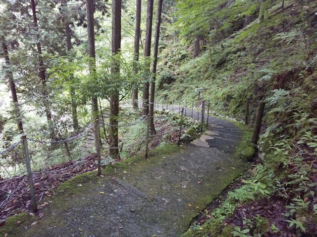 原不動滝の遊歩道