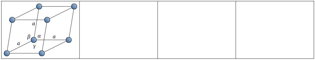 ブラべー格子 三方晶系