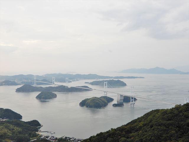 しまなみ海道 来島海峡大橋全体像