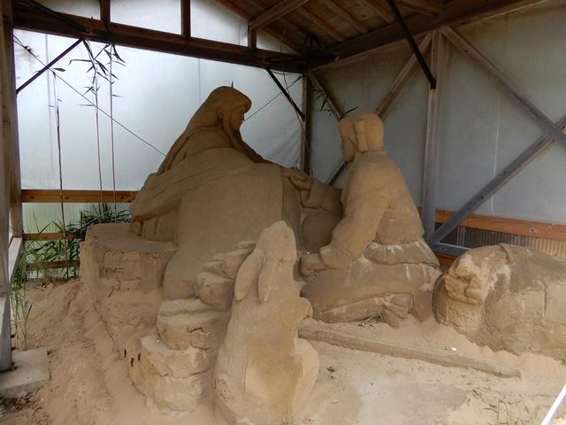 神話「因幡の白兎」の砂像